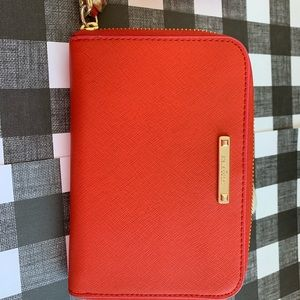 Red/pink wristlet wallet with floral inside NEW